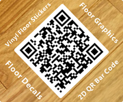 2D QR Bar Code Vinyl Floor Graphics
