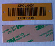 Aluminum Barcode Asset Labels
