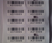 Barcoded Destructible Vinyl Tamper Proof Labels