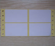 Blank Pinfeed Labels