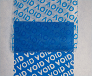 Blue Tamper Proof VOID Labels