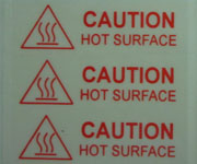 Clear Polyester Caution Labels