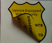 Double Sided Static Cling Decals