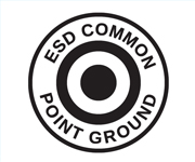 ESD Common Point Ground Symbol