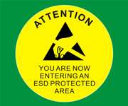 ESD Warning Vinyl Floor Stickers