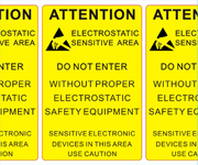 Electrostatic Sensitive Area Labels