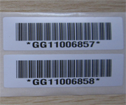 Gloss White Polyester Serial Number Labels