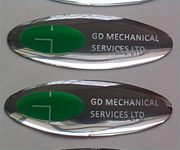 Glossy Silver Dome Labels