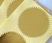 Gold Paper Labels