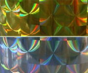Gold Silver Big Diamond Holographic Polyester Film