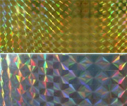 Gold Silver Small Diamond Holographic PET Film