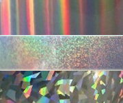 Holographic Polyester Label Material Sample