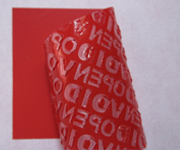 Matte Red Non Residue Tamper Evident Labels