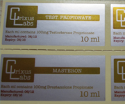 Matte Silver Polyester Waterproof Labels