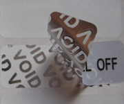 Matte Silver VOID Polyester Labels