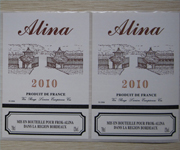 Red Wine Bottle Labels