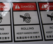 Synthetic Paper Danger Warning Labels