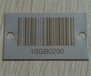Titanium Barcode Labels Punched Holes