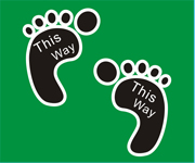 Vinyl Footprint Floor Stickers