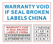 Warranty VOID If Seal Broken Label