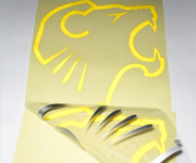 Yellow Reflective Vinyl Letter Car Sticker